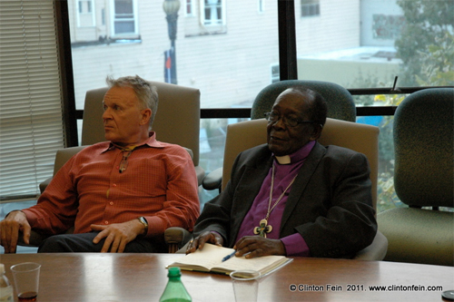 Anglican Bishop Christopher Senyonjo and Rev. Canon Albert Ogle, President of St. Paul's Foundation for International Reconciliation